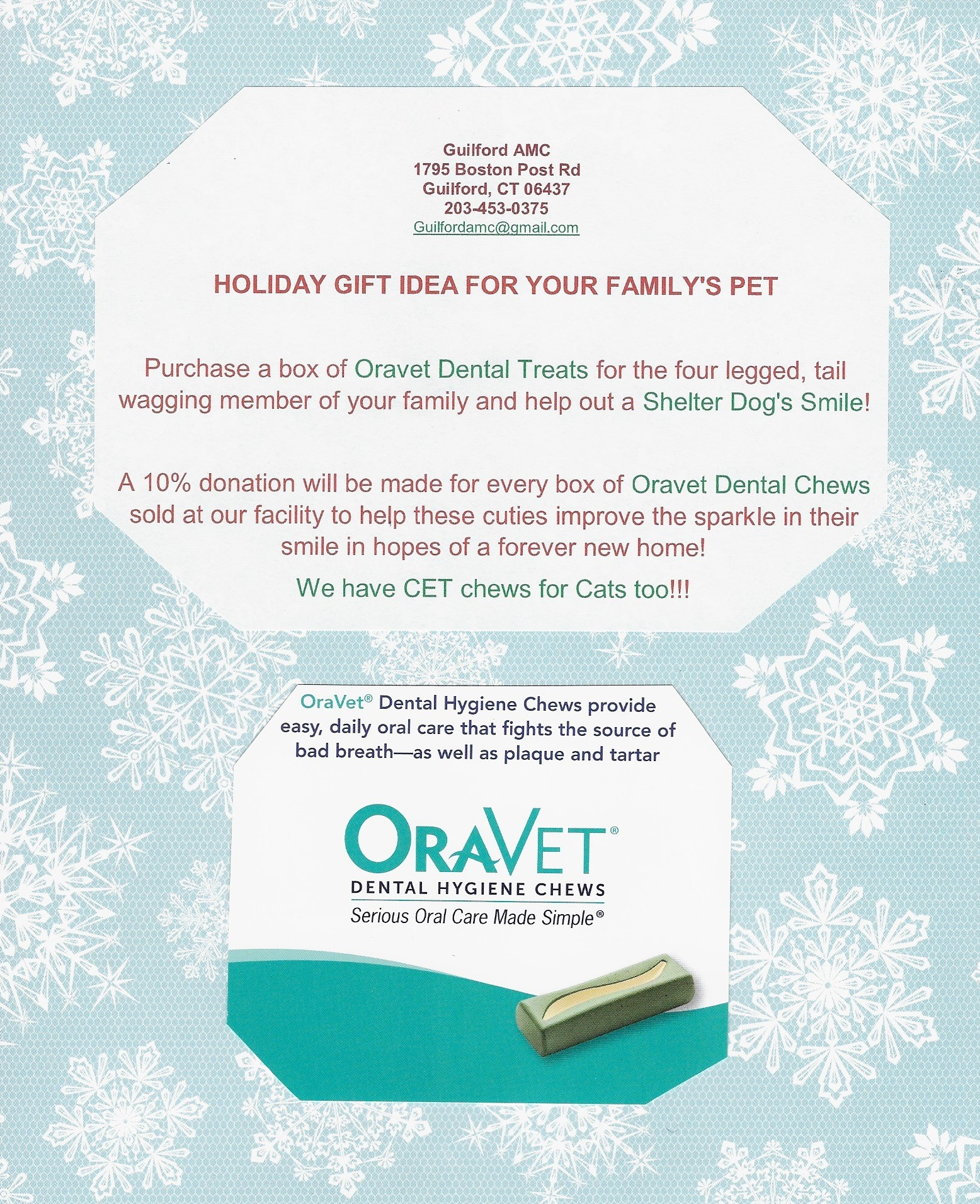 HOLIDAY GIFT IDEA | Guilford Animal Medical Center Guilford, Connecticut